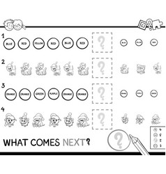 educational pattern game coloring page vector image
