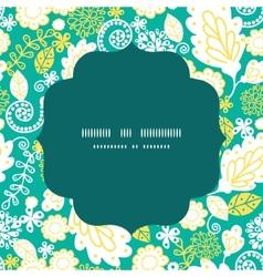 Emerald flowerals circle frame seamless vector