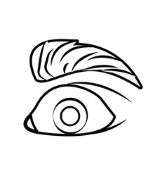 eye pop art cartoon vector image vector image