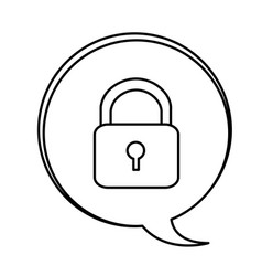 figure bubbles with lock symbol icon vector image vector image