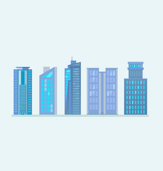 flat city skyscraper business buildings vector image