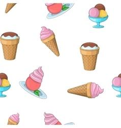 Frozen ice cream pattern cartoon style vector