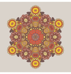 Geometric background circle floral ornament vector
