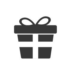Gift present bowtie silhouette icon vector