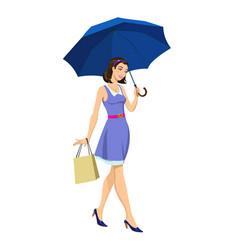 girl under an umbrella vector image