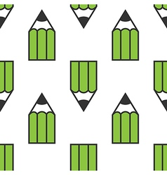 Green pencils seamless pattern vector image vector image