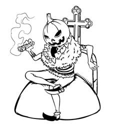 Halloween Man vector image