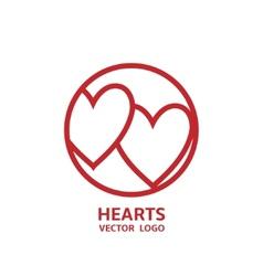 Hearts Logo vector image