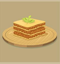 lasagna pasta whole wheat corn rice noodles vector image