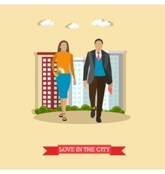 Love in the city concept in vector