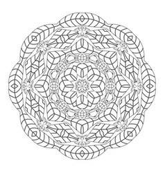 Mandala antistress coloring pages for adults vector