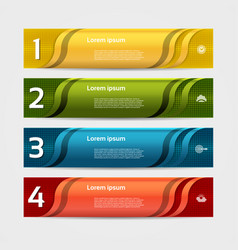 Modern wave infographics options banner vector