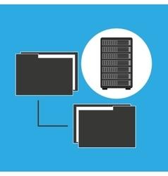 Network server concept transfer files vector