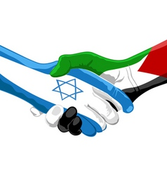 peace between Israel and Palestine vector image