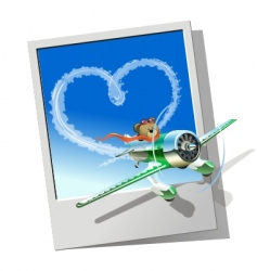 racing airplane vector image