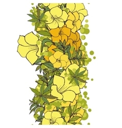 seamless background yellow exotic flowers vector image