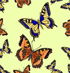 Seamless texture flight butterfly vector