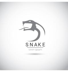 Snake simple black logo design element vector