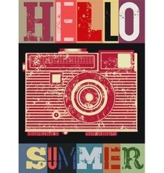 Summer typographic retro grunge poster vector image vector image