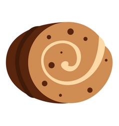 Sweet creamy roll icon isolated vector