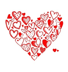Valentine hearts for your design vector image vector image