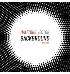 black and white dot halftone background vector image