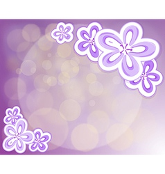 A lavender stationery with flowers vector image