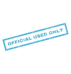 Official used only rubber stamp vector