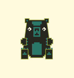 pixel art toy bear vector image