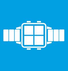 Modern smart watch icon white vector