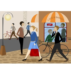 City life daily vector