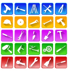 Set of repair and tools icons vector image