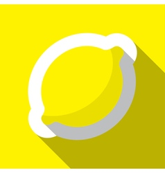Lemon and long shadow vector