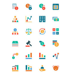 Banking and finance colored icons 2 vector