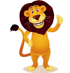 Lion cartoon vector