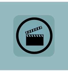 Pale blue clapperboard sign vector