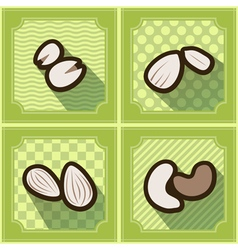 Seamless background with beans and nuts vector