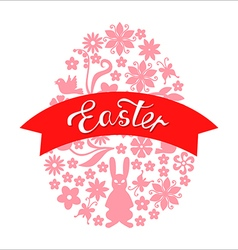 Easter ribbon vector