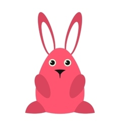 Pink easter bunny icon vector