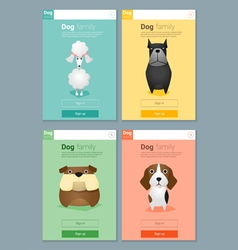 Animal banner with dog for web design 4 vector