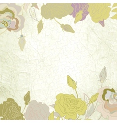 Romantic elegant floral vector image