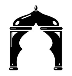 Archway turkey icon simple black style vector