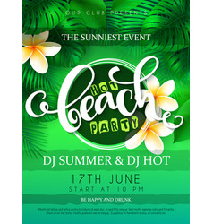 Beach party poster with vector