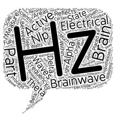 Brainwaves part frequencies text background vector