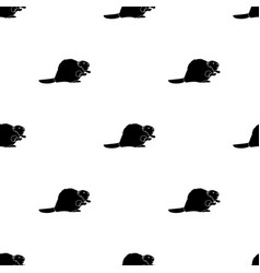 Canadian beaver canada single icon in black style vector