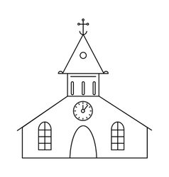 Catholic church icon outline style vector
