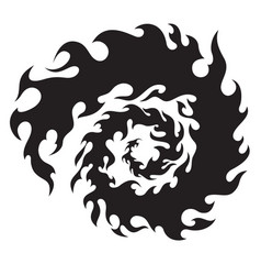 Circle of flames for tattoo or sticker vector