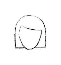 Contour face formal woman icon vector