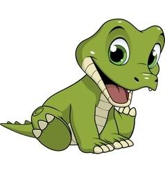 Cute funny crocodile vector