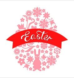 Easter ribbon vector